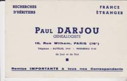 Buvard Paul Darjou Genealogiste - D