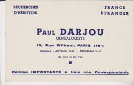 Buvard Paul Darjou Genealogiste - Blotters