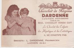 Buvard Chocolat De Régime Dardenne Luchon - Chocolat