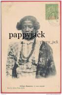 Madagascar Native Girl In Costume Circa 1896 French Colony Diego Suarez  5 Cent On Postcard - Madagascar