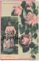Madagascar Femme Malgache Native Costume High Fashion1909 Diego Suarez, Grande Tenue 5 Cent Stamp On Circulated Postcard - Madagascar