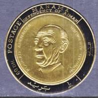 Manama 236   **  KONRAD ADENAUER   GOLD FOIL - Manama
