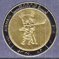 Manama 225   **  SPORTS  WEIGHT  LIFTING   GOLD FOIL - Manama