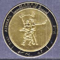 Manama 225   **  SPORTS  WEIGHT  LIFTING   GOLD FOIL - Weightlifting