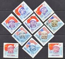Romania C 151-60  (o)  SPACE  FLAGS  ASTRONAUTS  COSMONAUTS - Airmail