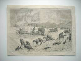 GRAVURE 1867. TRAINEAU DE POSTE RUSSE DE LA LIGNE DES FRONTIERES DE CHINE. PAR M. IVAN IVANOWITCH. - Estampas & Grabados