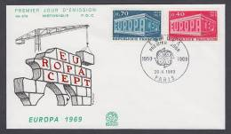CEPT Europa - FDC 1969 - Frankreich France - MiNr. 1665-1666 - Europa-CEPT