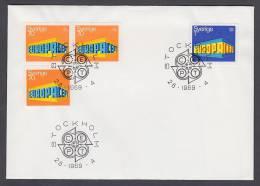 CEPT Europa - FDC 1969 - Schweden Sweden - MiNr. 634 A, DI, Dr - 635 A - Europa-CEPT