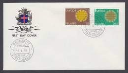 CEPT Europa - FDC 1970 - Island Iceland - MiNr. 442-443 - Europa-CEPT