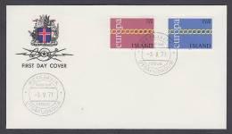 CEPT Europa - FDC 1971 - Island Iceland - MiNr. 451-452 - 1971