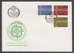 CEPT Europa - FDC 1971 - Portugal - MiNr. 1127-1129 - 1971