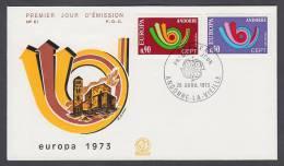 CEPT Europa - FDC 1973 - Andorra (France) - MiNr. 247-248 - Europa-CEPT