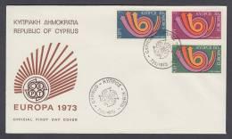 CEPT Europa - FDC 1973 - Zypern Cyprus - MiNr. 389-391 - Europa-CEPT