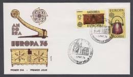 CEPT Europa - FDC 1976 - Andorra (Spain) - MiNr. 101-102 - Europa-CEPT