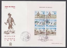 CEPT Europa - FDC 1979 - Monaco - MiNr. Block 15 - Maxi FDC - M€ 28,00 - 1979