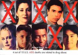 HIV AIDS & Drug Abuse Postcard Awareness Prevention Protection Campaign - 14121 - Health