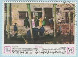 1968 - YEMEN - Y&T 252C - Giacomo Favretto (1849-1887) - Yémen