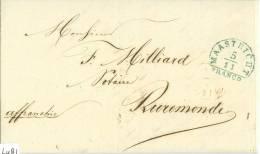 KOMPLEET HANDGESCHREVEN BRIEF * Uit 1850 Uit MAASTRICHT Naar RUREMONDE ROERMOND * PORTO 10 CENT (6481) - Niederlande