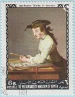 1968 - YEMEN - Y&T 267C - Jean-Baptiste Siméon Chardin (16999-1779) - Yémen