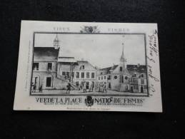 Fismes : Place Nationale à La Révolution.Chasseurs En Patrouille.( Avant 1903 ) - Fismes