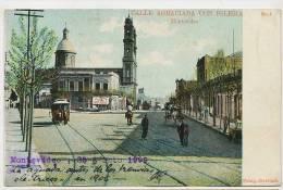 Montevideo Calle Agraciada No 5 1909 Horse Tram Tranvia, Foto Strobach - Uruguay