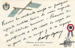 Guerre 1914 Texte Journaliste Uruguay  Adolfo Agorroy Soutien De La France - Uruguay