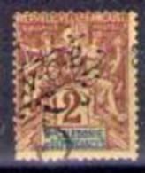Timbre Des Colonies Française Surchargé 5c Sur 2c Lilas-brun - Nouvelle-Calédonie