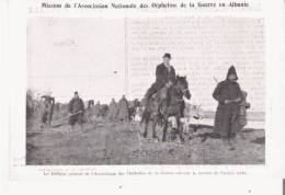 ALBANIE LA DELEGUE GENERAL DE L'ASSOCIATION DES ORPHELINS DE LA GUERRE SUIVANT LA RETRAITE DE L'ARMEE SERBE