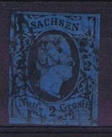 Deutschland: Sachsen Mi  7, Used/cancelled - Saxe