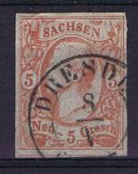 Deutschland: Sachsen Mi  12, Used/cancelled - Saxony
