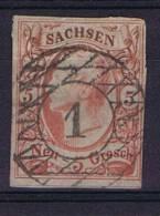 Deutschland: Sachsen Mi  12, Used/cancelled - Sachsen