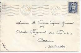 TUNISIE -1955 -   LETTRE DE FERRYVILLE A DESTINATION DE CAEN  -(FR)- - Tunisie (1888-1955)