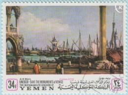 1968 - YEMEN - Y&T 70B - Giovanni Antonio Canal (Canaletto)(1697-1768) - Yemen