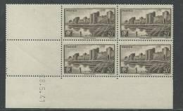 France N° 501 XX Aigues-Mortes, En Bloc De 4 Coin Daté Du 28 . 5 . 41 , Sans Charnière,  TB - 1940-1949