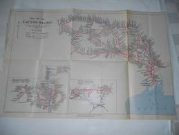 Map Of The Eastern Railway / India Showing Eastern Railway With Other Lines - Autres