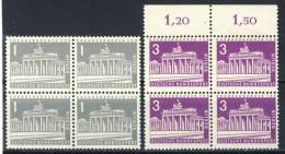 1956 Germany Berlin 2 MNH Blocks Of 4 Michel #rs 140 & 231 - Blocks & Sheetlets