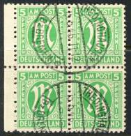 1945 Germany Used Block Of 4 Of The 5 Pfennig M Issue - American/British Zone