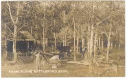 Canada - Farm Scéne Battleford Sask -  Carte Photo - (voir 2 Scans) - Alberta