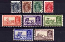 India - 1937 - Definitives (Part Set) - MH - 1936-47 Roi Georges VI