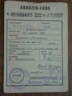 ARBEITS - PASS ( Bunjes Karl 9 August 1905 Ohmstede / Zie Foto´s Voor Details) ! - Documenten
