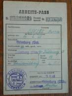 ARBEITS - PASS ( Bunjes Hanna 14.2.1923 Oldenburg / Zie Foto´s Voor Details) ! - Documenten