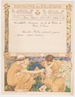 Belgique Telegramme Telegram -dessin Montald 27 - Lambillotte Beauvais, Plaine Saint Pierre. 1937