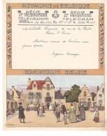 Belgique Telegramme Telegram -dessin Lynen - Lambillotte Beauvais, Plaine Saint Pierre. 1937