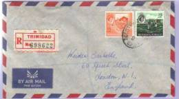 Airmail Registered Letter Trinidad Tobago To USA 1961 (309) - Trinidad & Tobago (1962-...)