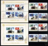 CUBA/KUBA 2005 RARISSIMA EMISSIONE EUROPA SET + SOUVENIR SHEET SERIE PERFORATA E IMPERFORATA - Cuba