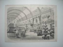 GRAVURE 1868. PARIS. EXPOSITION DES PRODUITS DE L'ALGERIE ET DES COLONIES, AU PALAIS DE L'INDUSTRIE. - Estampes & Gravures