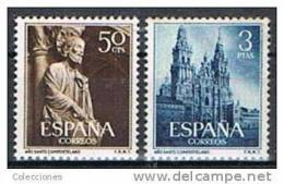 ES1130-L1693TRC.España . Spain  Espagne.AÑO  SANTO COMPOSTELANO.Santiago Apostol.1954.(Ed 1130/1**)sin Charnela. LUJO - Cristianismo