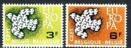 1961 Belgium Complete MNH Set Of 2 Stamps Europa Issue Michel # 1253-1254 - Belgium