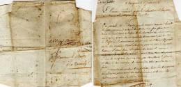Lettre D´ Avginon A Mérindol (vaucluse) Au Maire - 1813 (49263) - Marcophilie (Lettres)