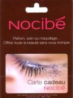 CARTE CADEAU GIFT CARD NOCIBE PARFUM SHOP  EYE OEIL NEUVE MINT IN FOLDER DANS SON ENCART ORIGINE - Parfum